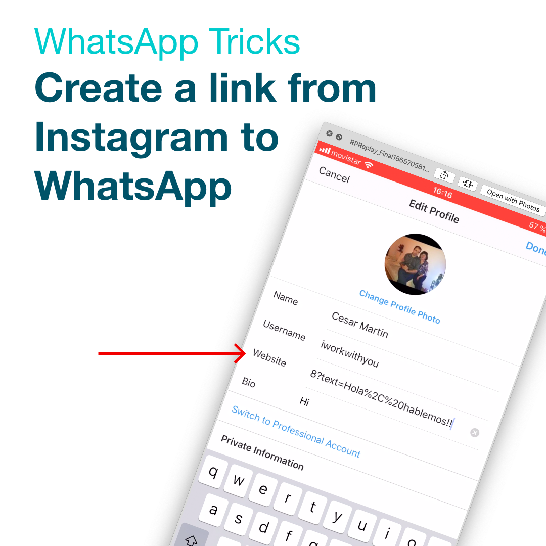 como poner un link a whatsapp paso 1