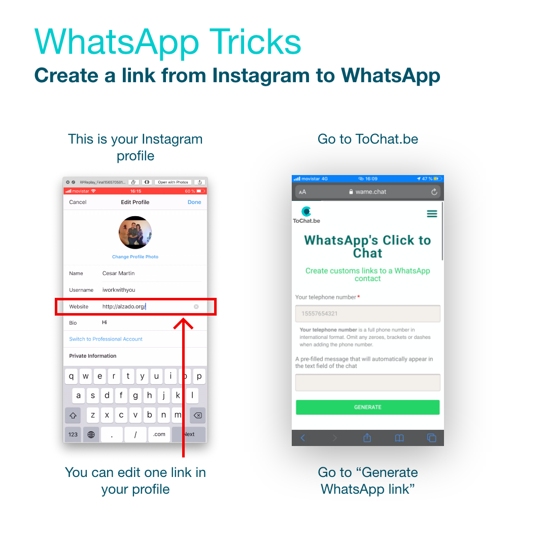 como poner un link a whatsapp paso 2
