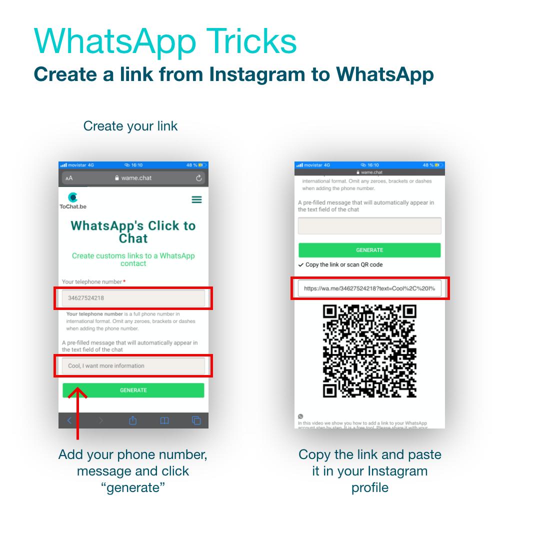 como poner un link a whatsapp paso 3