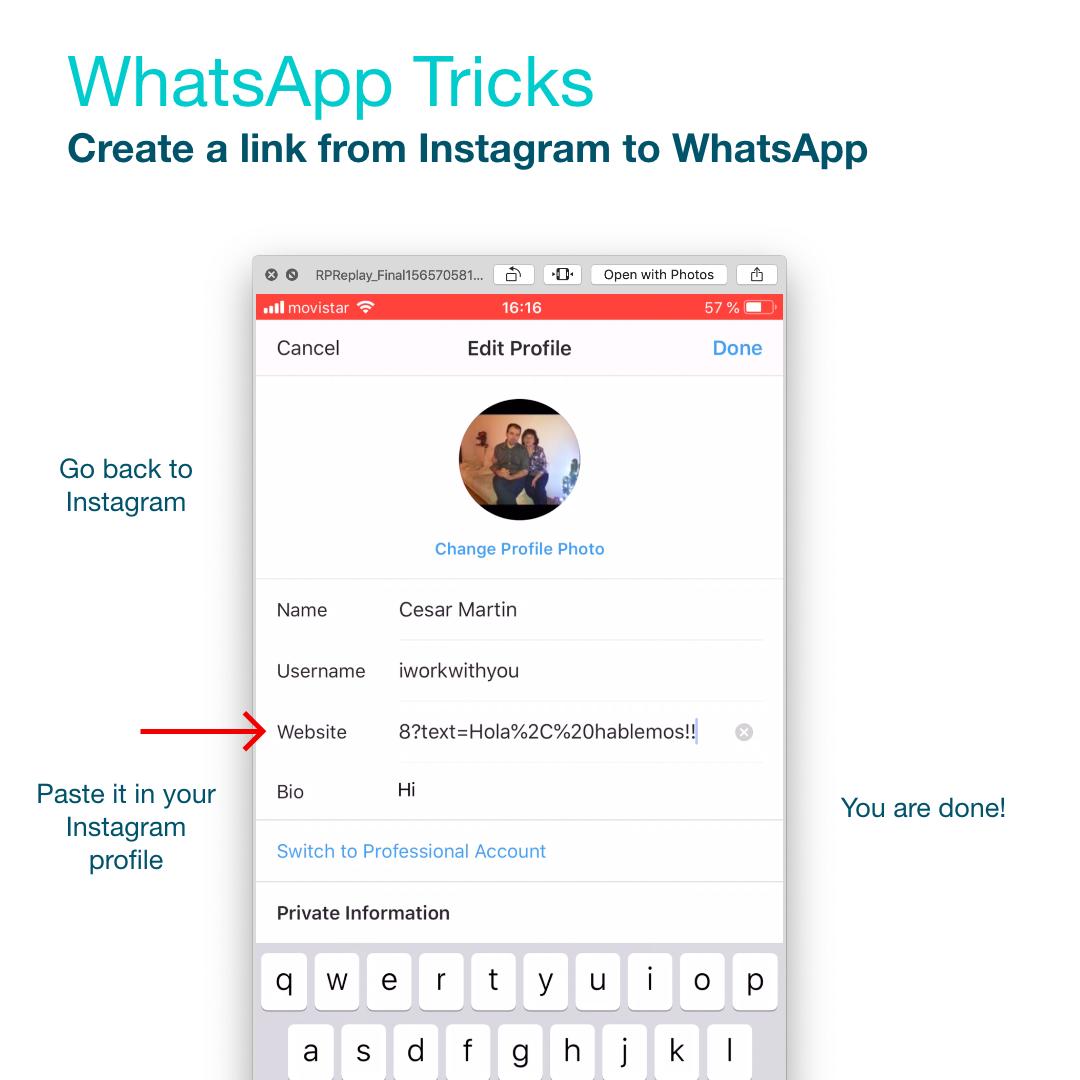 como poner un link a whatsapp paso 4