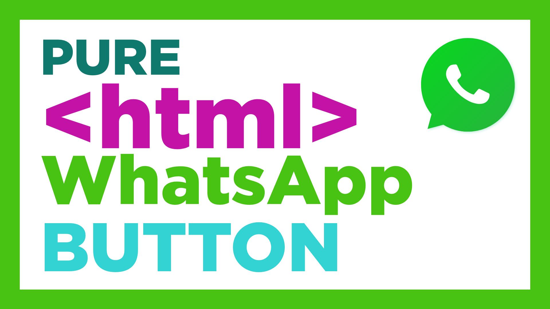 whatsapp link html