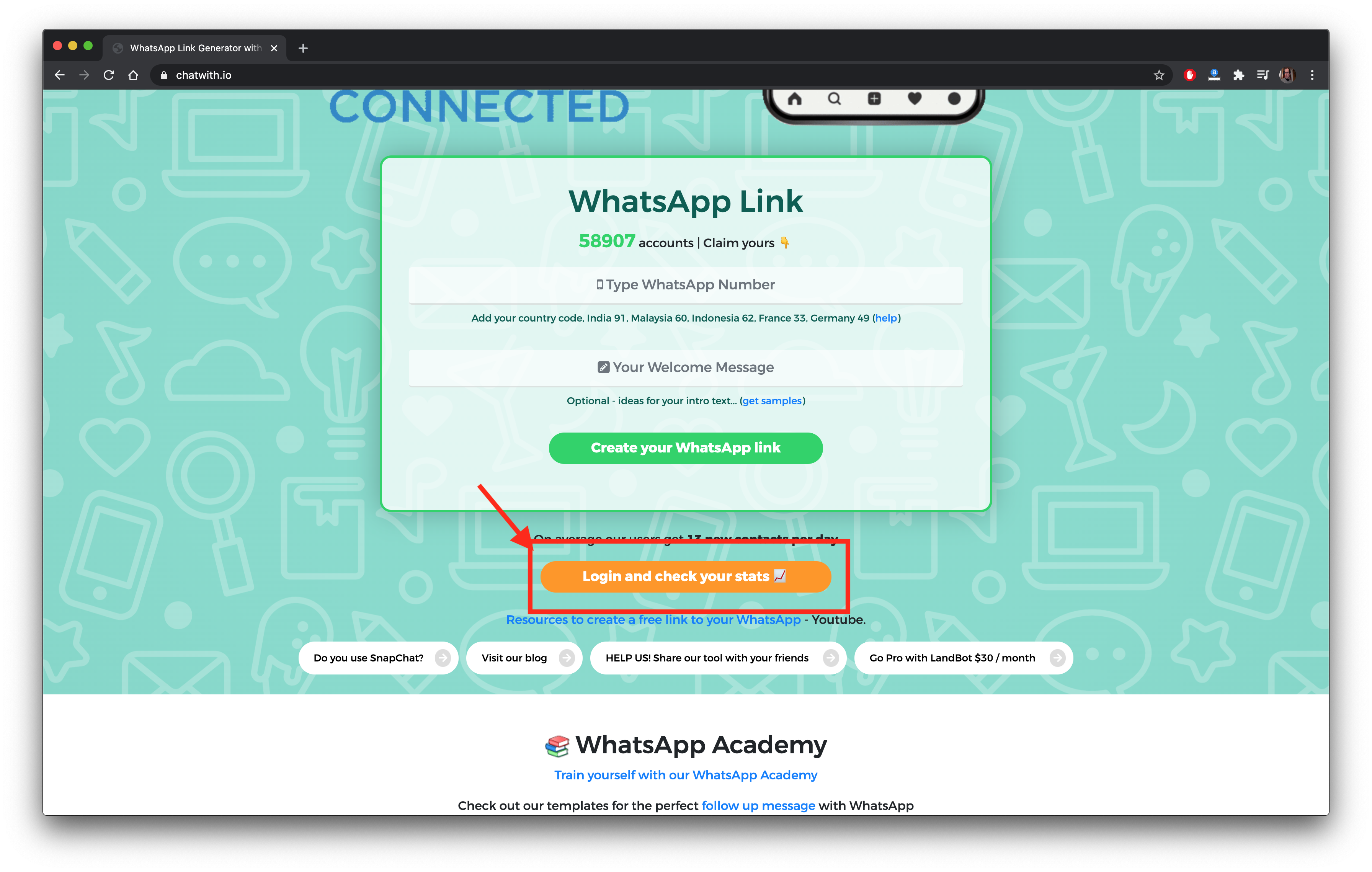 This image has an empty alt attribute; its file name is login-manage-link-to-whatsapp.png