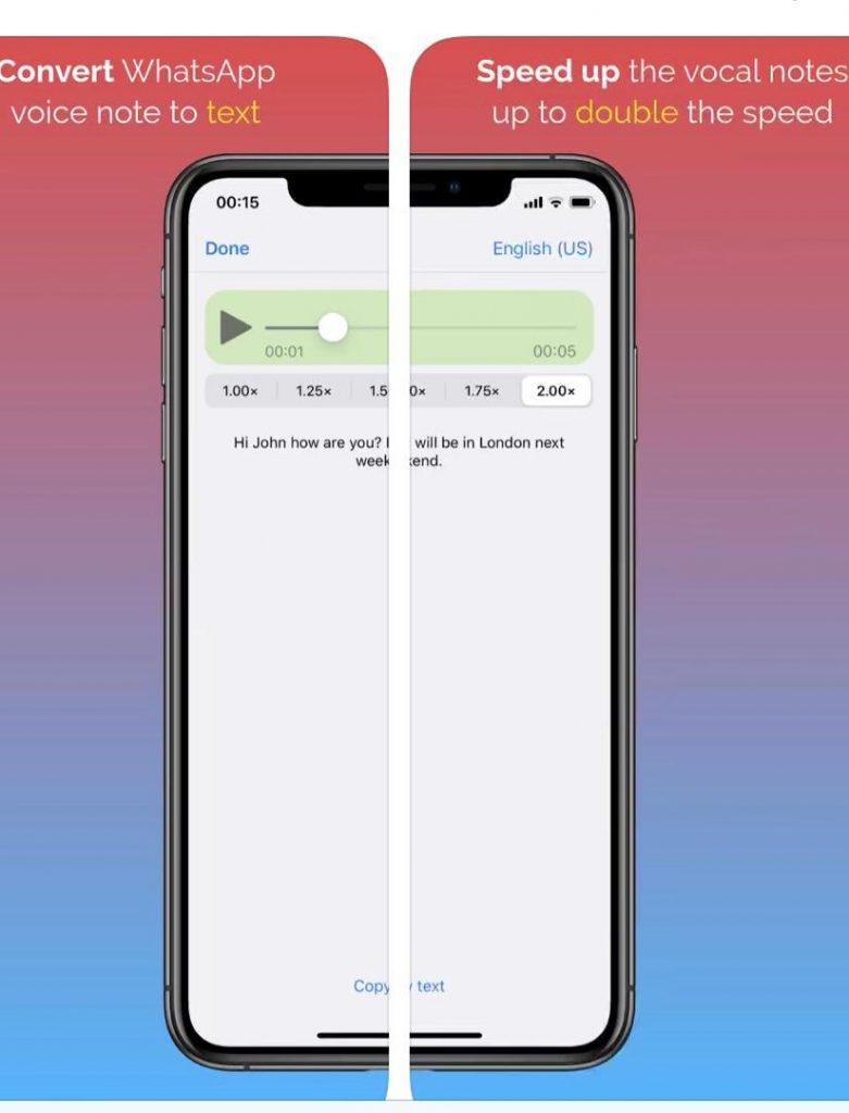 convert whatsapp voice record into text