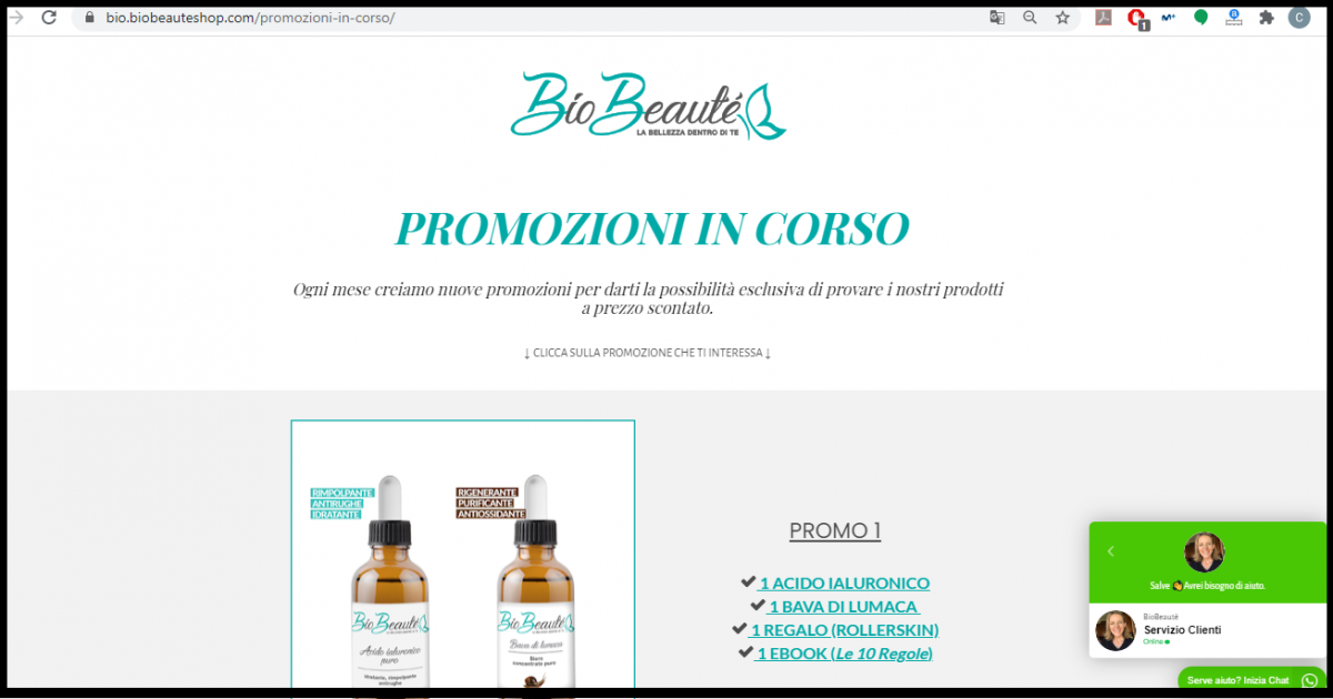bio beauté shop whatsapp widget whatsapp sales