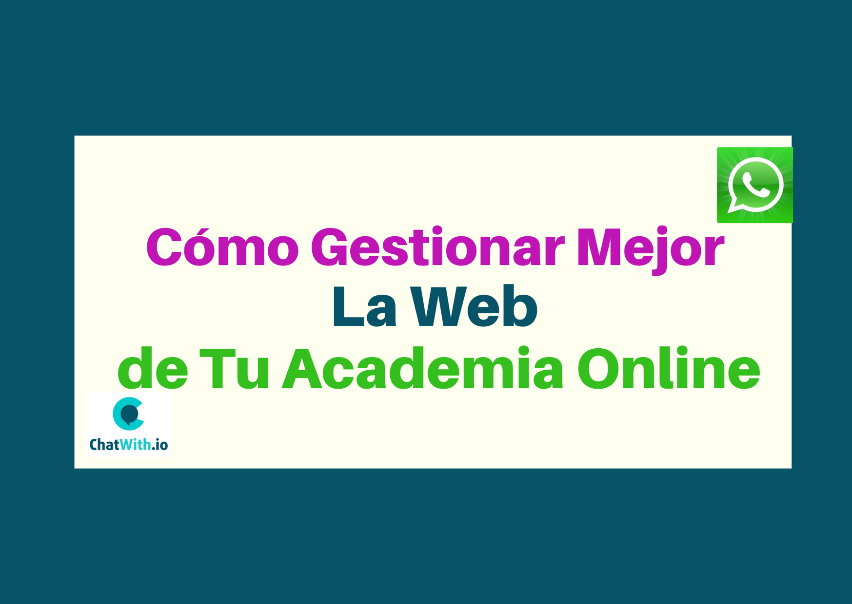Gestionar Tu Academia Online WhatsApp