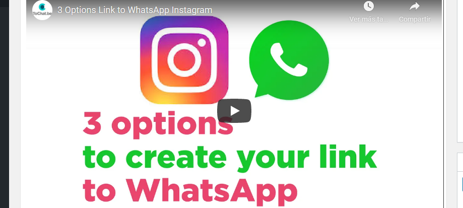 whatsapp link instagram
