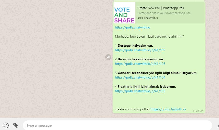 whatsapp anket