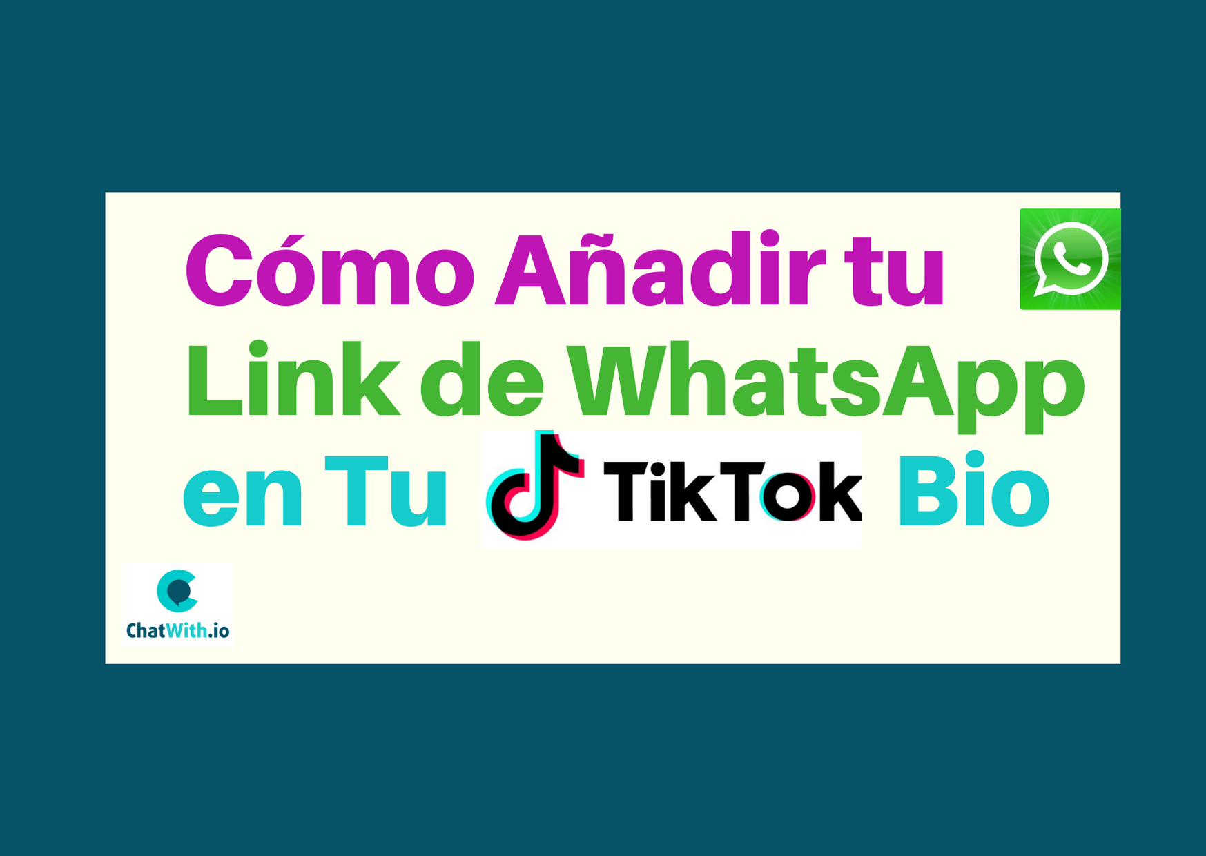 link de whatsapp tiktok