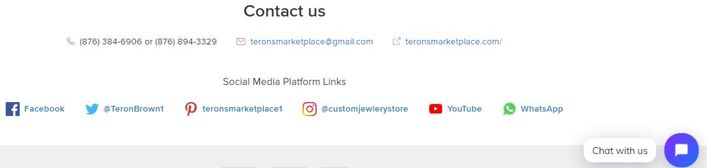 terons marketplace whatsapp button